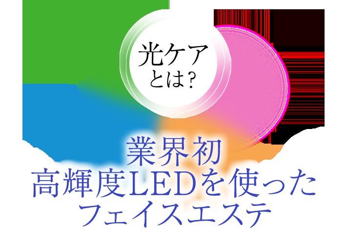業界初 高輝度LEDを使ったフェイスエステ